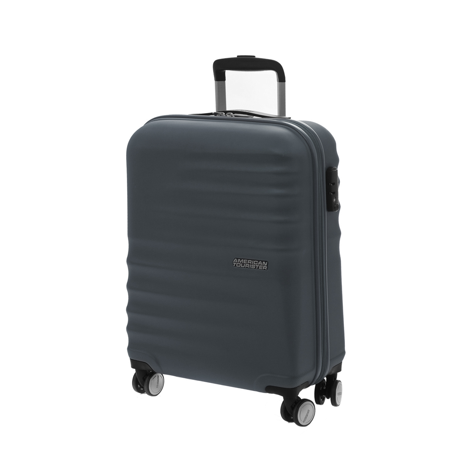 AMERICAN TOURISTER – Βαλίτσα καμπίνας American Tourister WAVEBREAKER SPINNER ανθρακί