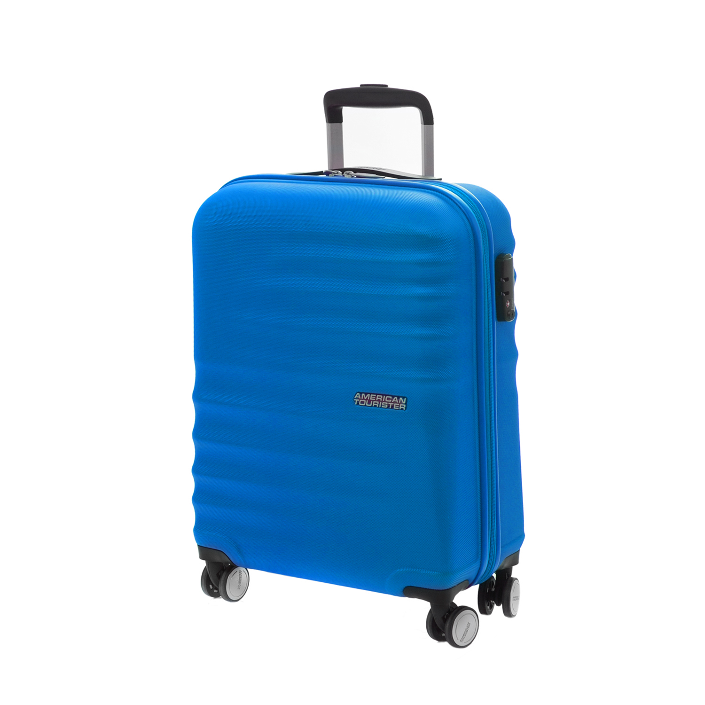 AMERICAN TOURISTER – Βαλίτσα καμπίνας American Tourister WAVEBREAKER SPINNER μπλε