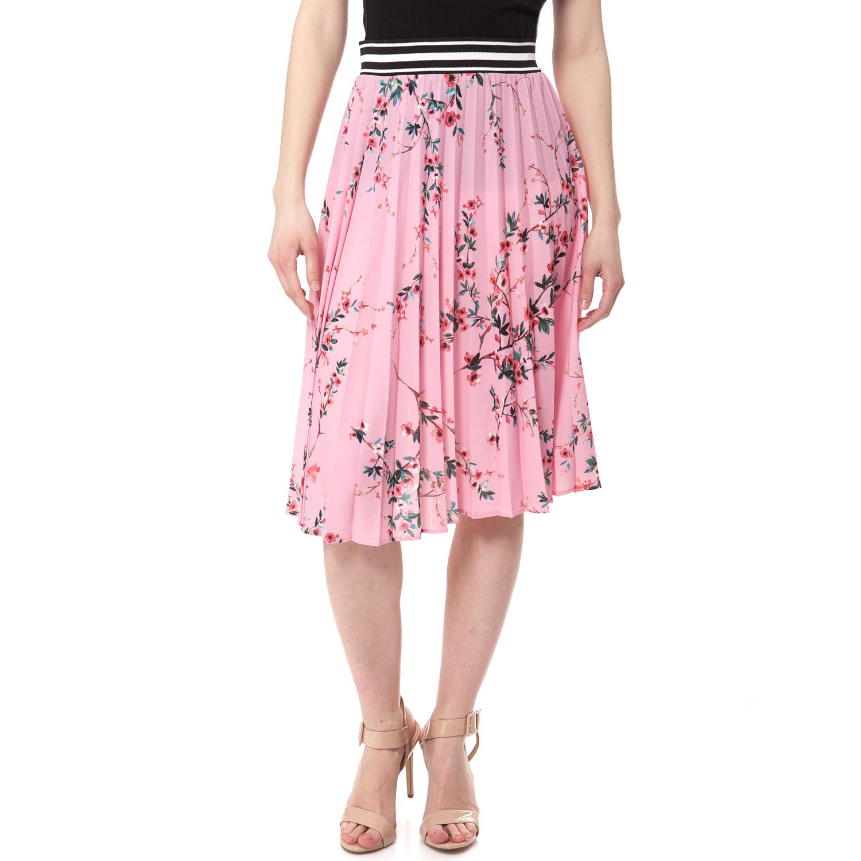 GUESS - Γυναικεία φούστα Guess ροζ γυναικεία ρούχα φούστες μέχρι το γόνατο