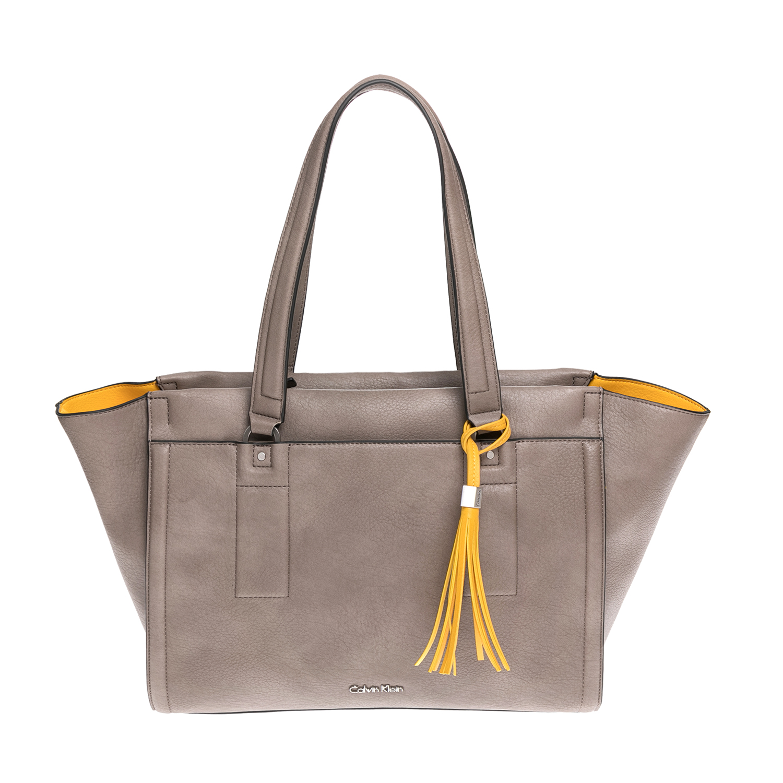 CALVIN KLEIN JEANS – Γυναικεία τσάντα CALVIN KLEIN JEANS μπεζ-κίτρινη 1502880.0-00K3