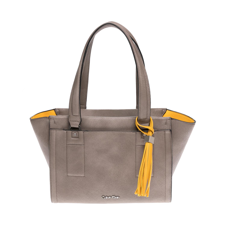 CALVIN KLEIN JEANS – Γυναικεία τσάντα CALVIN KLEIN JEANS μπεζ-κίτρινη 1502887.0-00K3