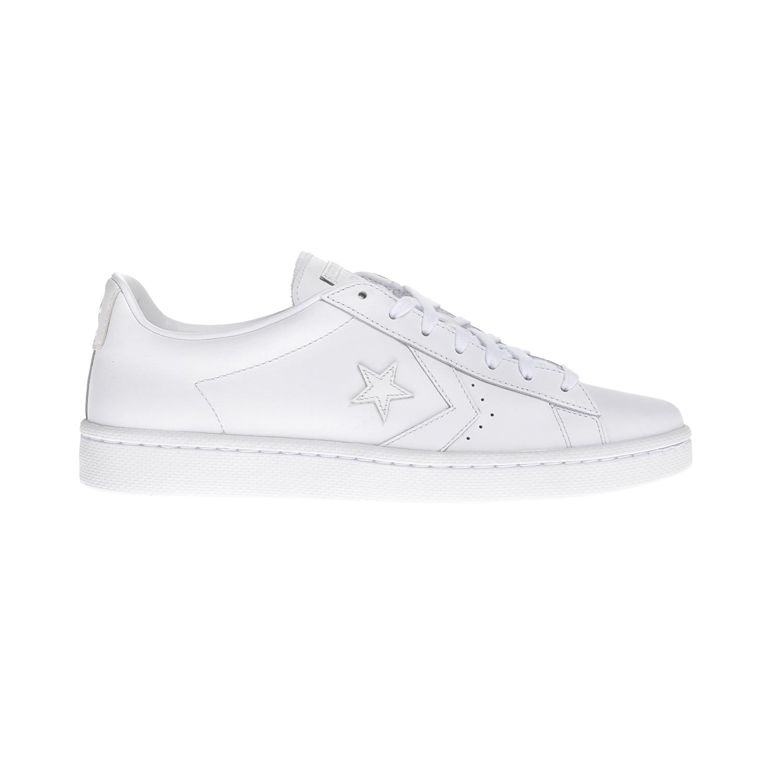 CONVERSE – Unisex παπούτσια QS Pro Leather Ox άσπρα
