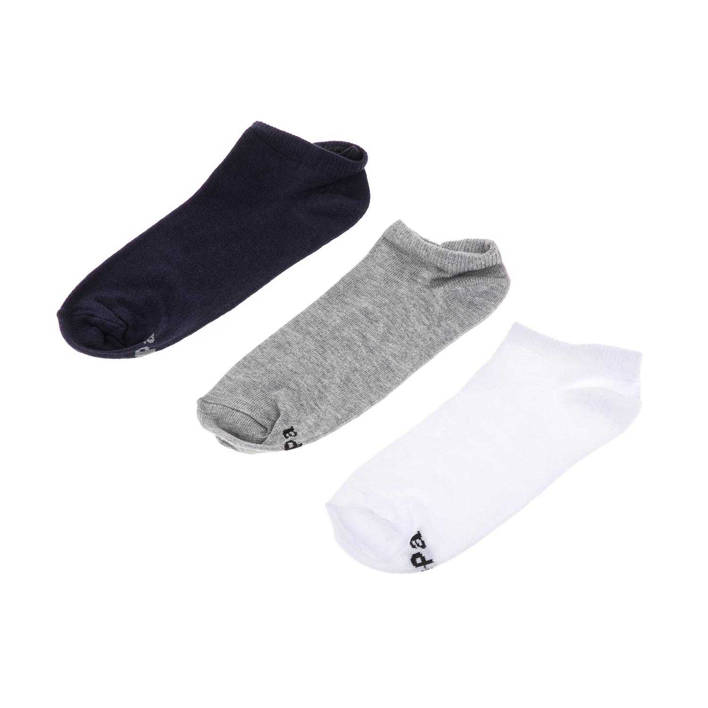 GSA – Σετ ανδρικές κάλτσες MEN TRAINER 3 PACK JEPA GSA μπλε-γκρι-λευκό
