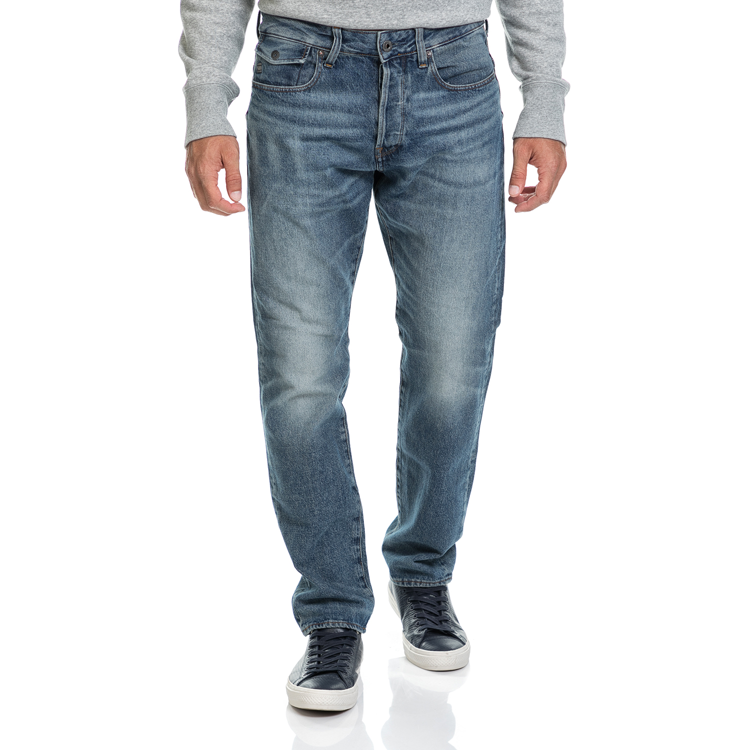 G-STAR - Ανδρικό παντελόνι Riban Tapered G-STAR RAW μπλε ανδρικά ρούχα παντελόνια jean
