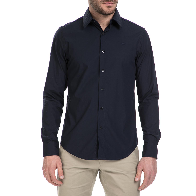 G-STAR RAW – Ανδρικό μακρυμάνικο πουκάμισο G-Star Raw CORE σκούρο μπλε