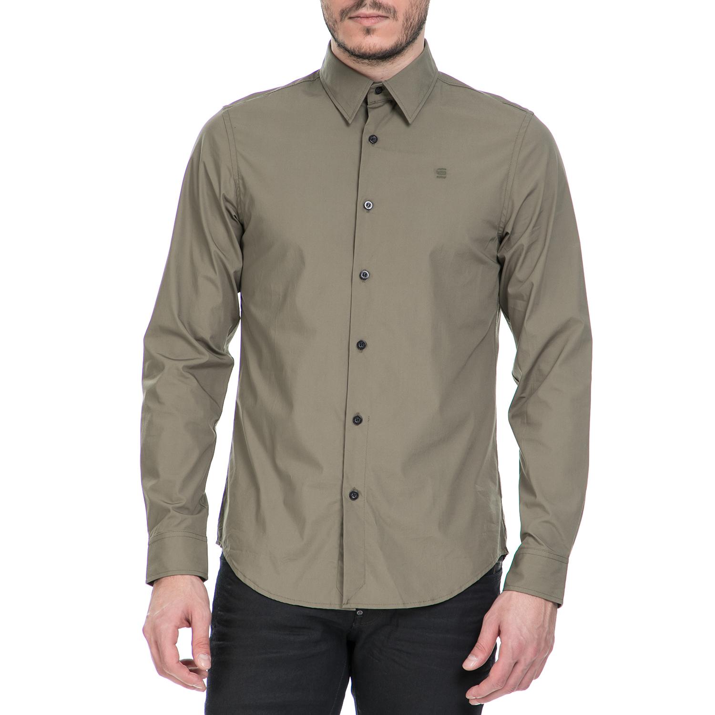 G-STAR RAW – Ανδρικό μακρυμάνικο πουκάμισο G-Star Raw CORE χακί