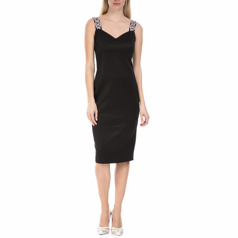 TED BAKER - Midi φόρεμα Ted baker Mally Bodycon μαύρο γυναικεία ρούχα φορέματα μέχρι το γόνατο