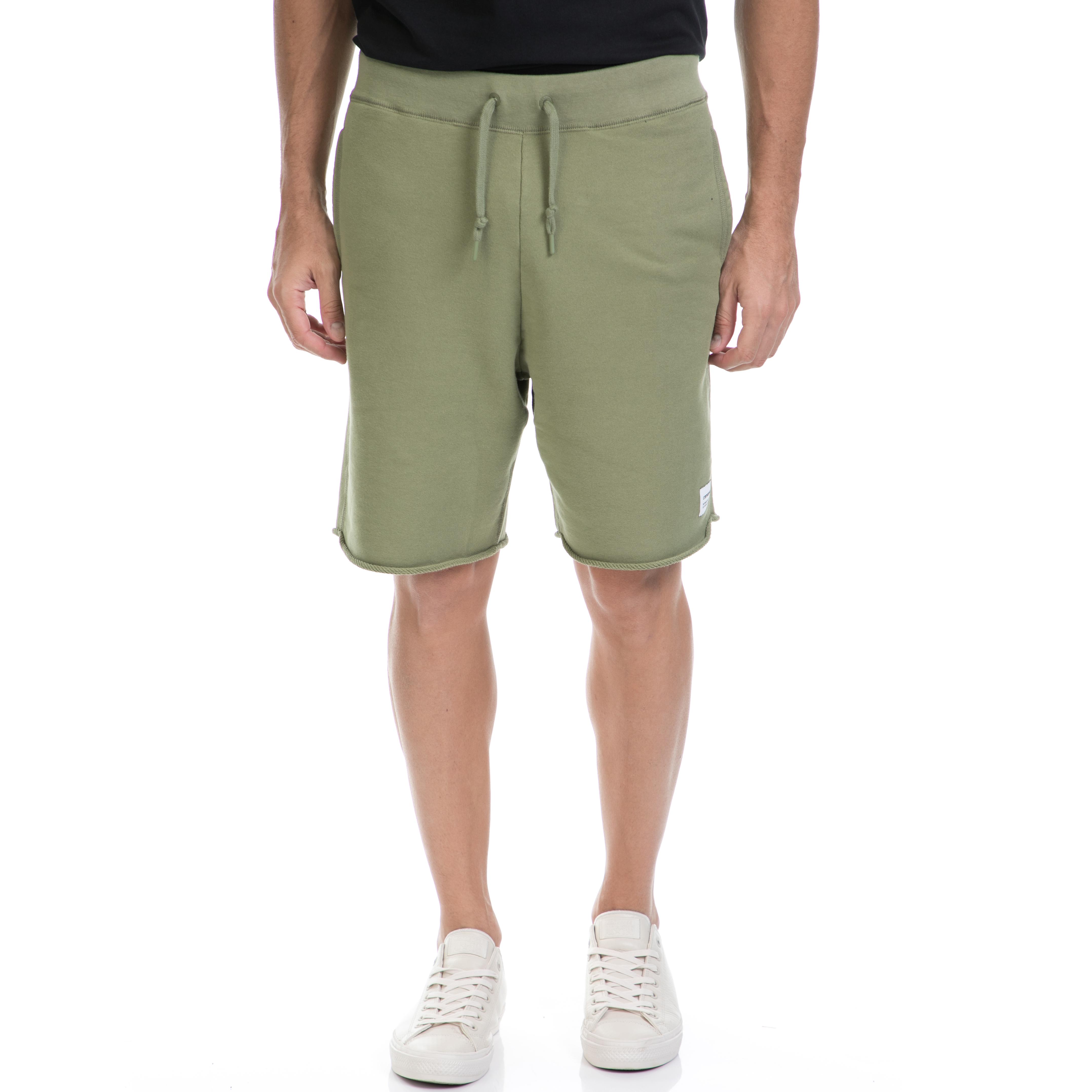 CONVERSE - Αντρική βερμούδα CONVERSE χακί ανδρικά ρούχα σορτς βερμούδες αθλητικά