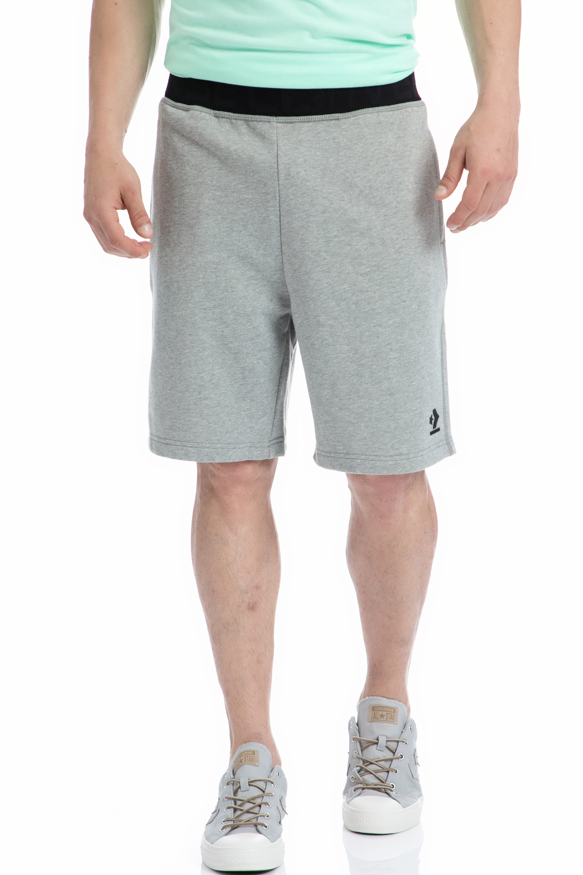CONVERSE - Ανδρική βερμούδα Converse γκρι ανδρικά ρούχα σορτς βερμούδες αθλητικά