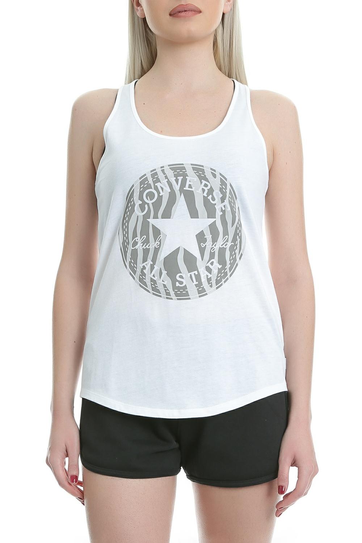 CONVERSE – Γυναικεία μπλούζα Zebra Fill CP Classic Tank λευκή