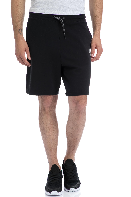 CONVERSE - Ανδρική βερμούδα Converse μαύρη ανδρικά ρούχα αθλητικά t shirt