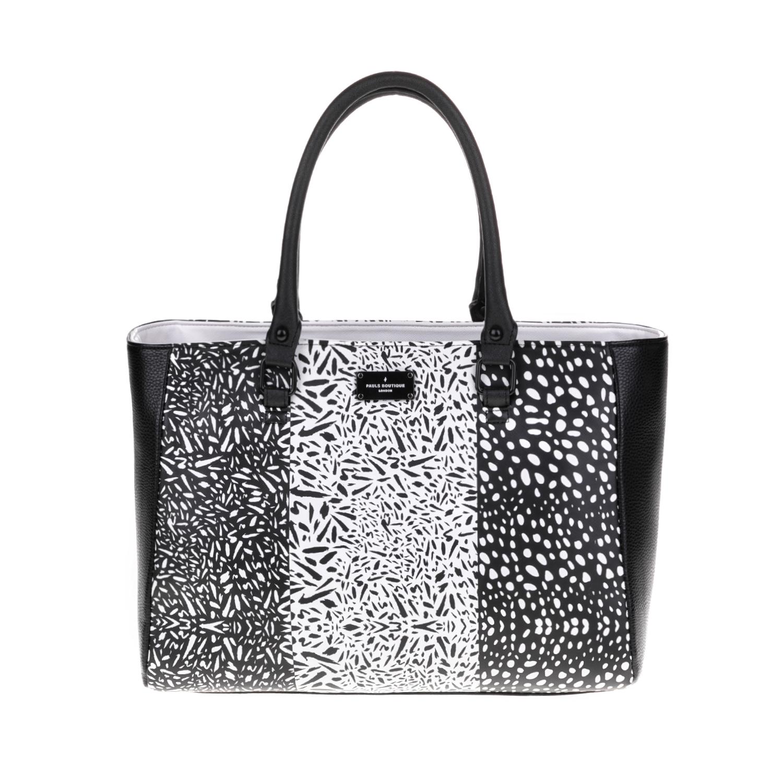 PAUL'S BOUTIQUE – Γυναικεία τσάντα PAUL'S BOUTIQUE μαύρη-άσπρη 1510535.0-7191