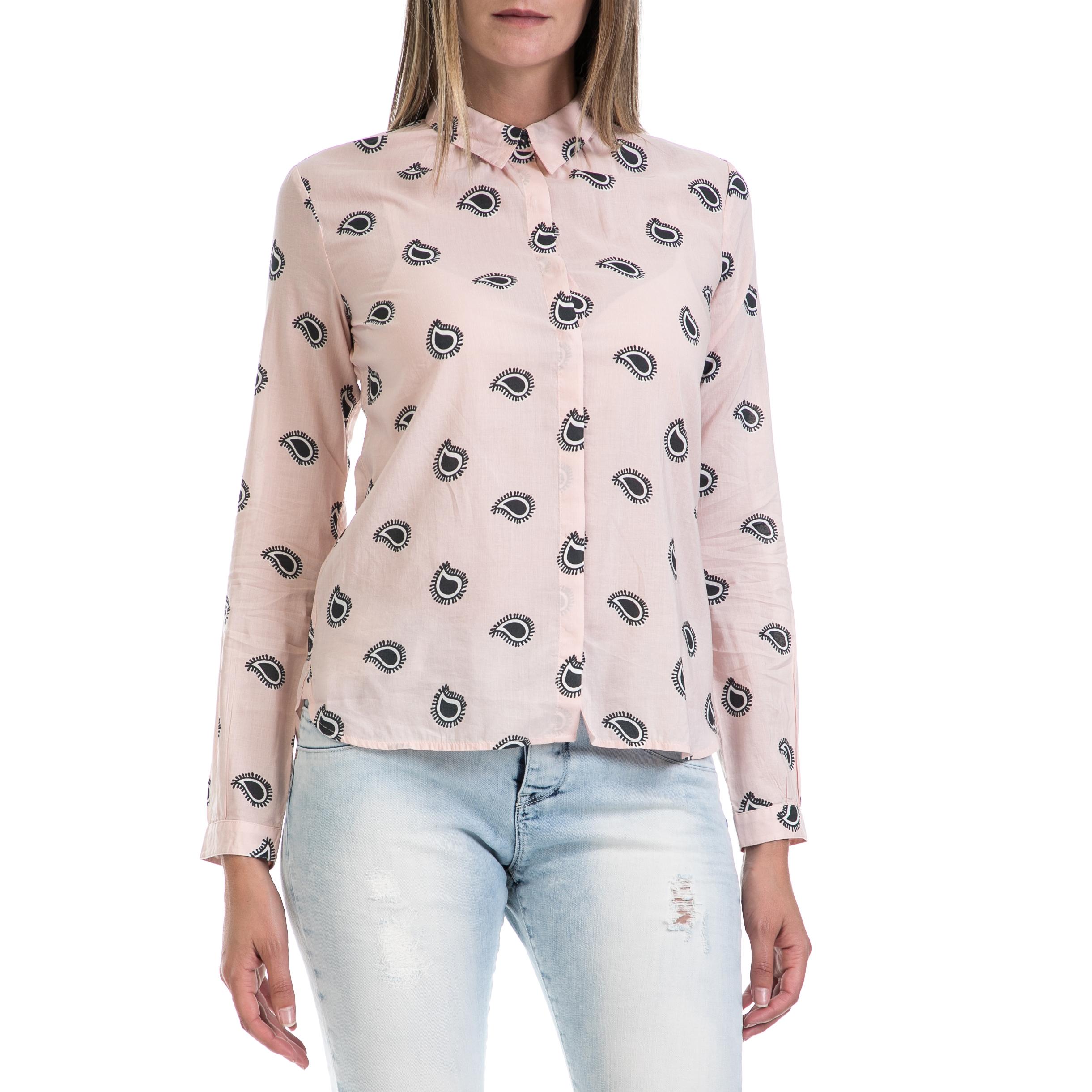 SCOTCH & SODA - Γυναικείο πουκάμισο MAISON SCOTCH ροζ-μαύρο γυναικεία ρούχα πουκάμισα μακρυμάνικα