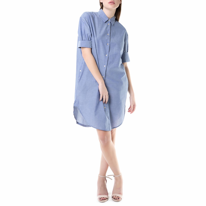 SCOTCH & SODA - Μίνι φόρεμα SCOTCH & SODA ανοιχτό μπλε γυναικεία ρούχα φορέματα μίνι