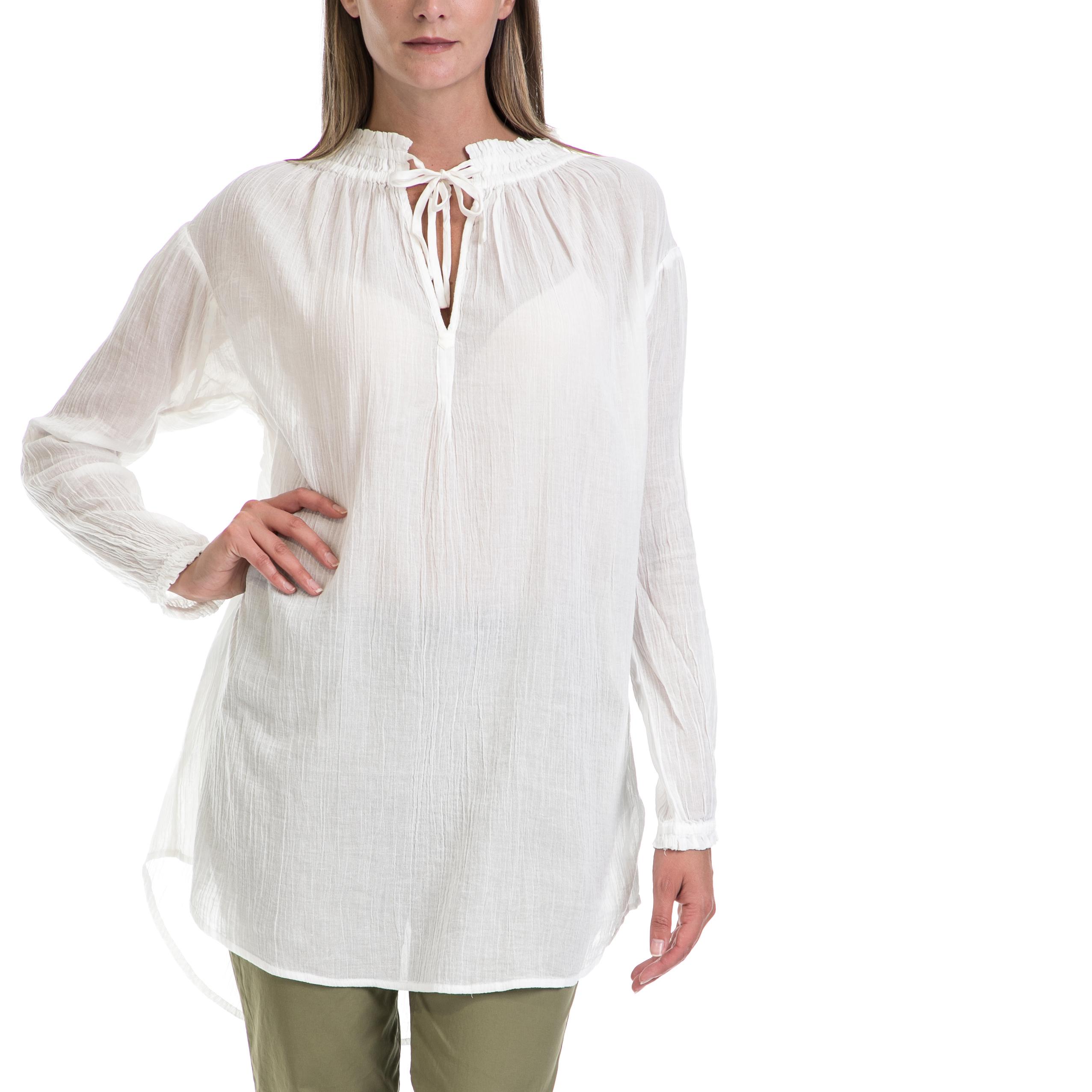 MAISON SCOTCH - Γυναικεία μπλούζα MAISON SCOTCH άσπρη γυναικεία ρούχα μπλούζες