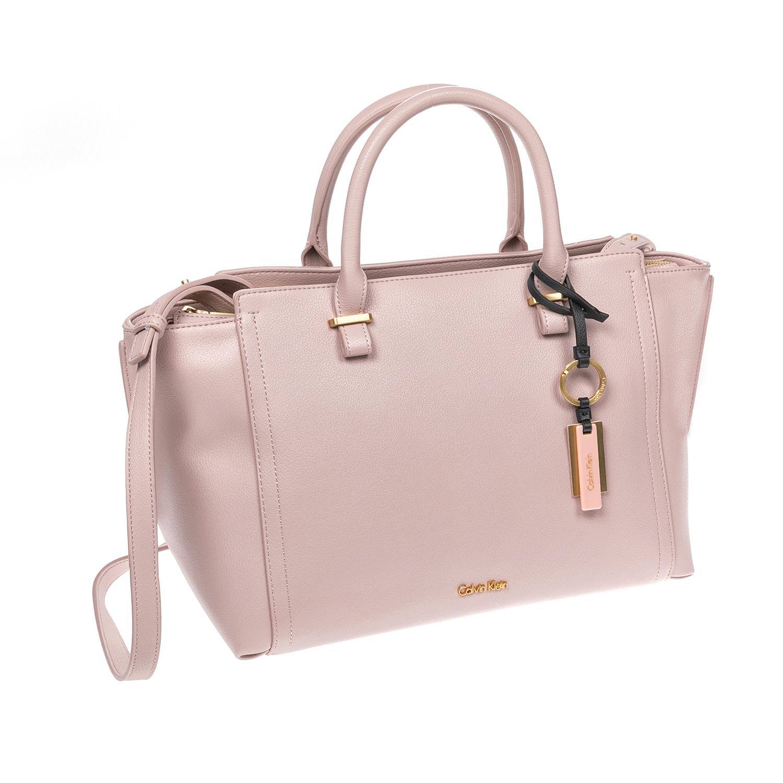 CALVIN KLEIN JEANS - Γυναικεία τσάντα CALVIN KLEIN JEANS ροζ γυναικεία αξεσουάρ τσάντες σακίδια χειρός