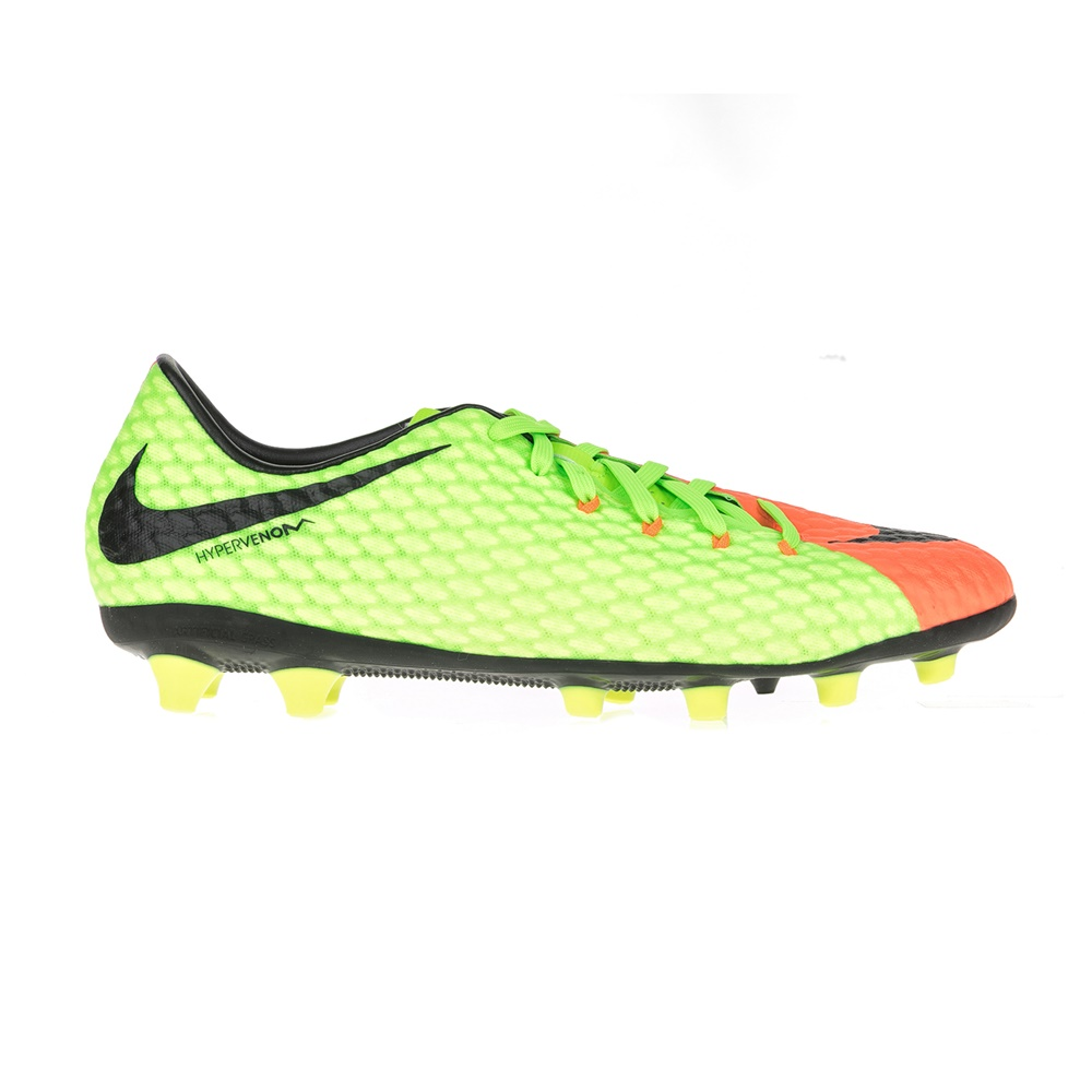 NIKE – Ανδρικά ποδοσφαιρικά παπούτσια HYPERVENOM PHELON III AGPRO πράσινα-πορτοκαλί