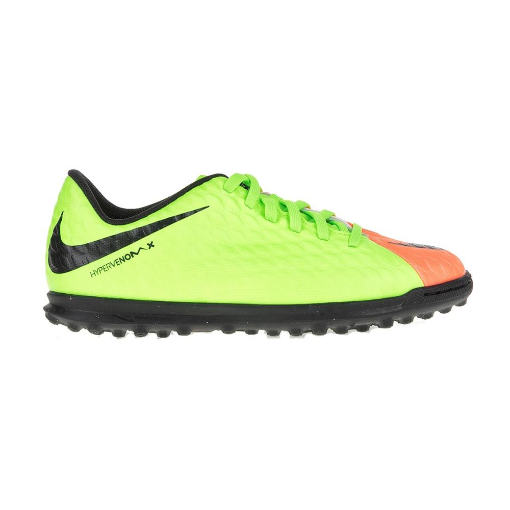 NIKE – Παιδικά παπούτσια ποδοσφαίρου JR HYPERVENOMX PHADE III TF κίτρινα – πορτοκαλί