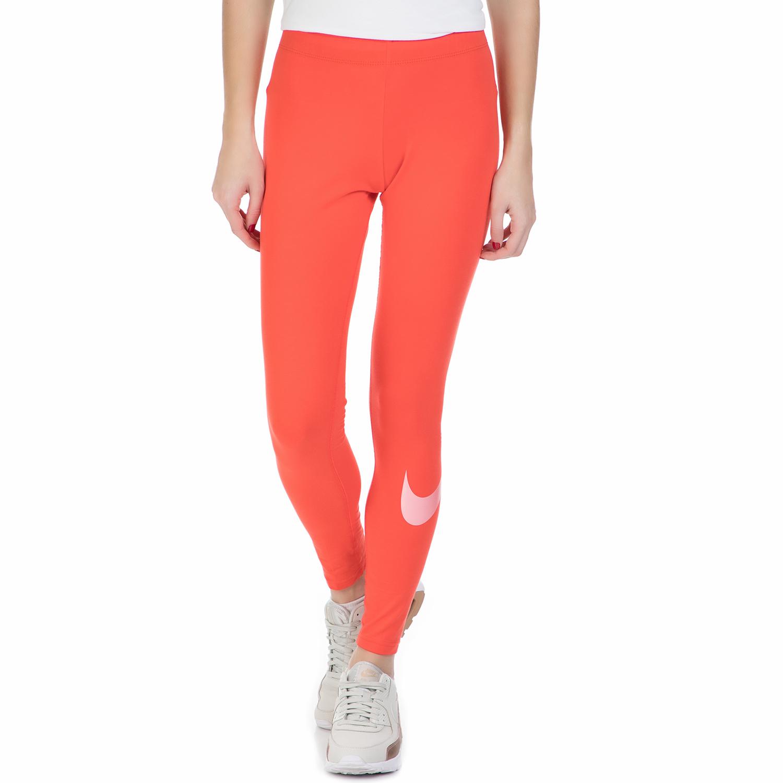 NIKE - Γυναικείο μακρύ κολάν Nike πορτοκαλί γυναικεία ρούχα αθλητικά κολάν