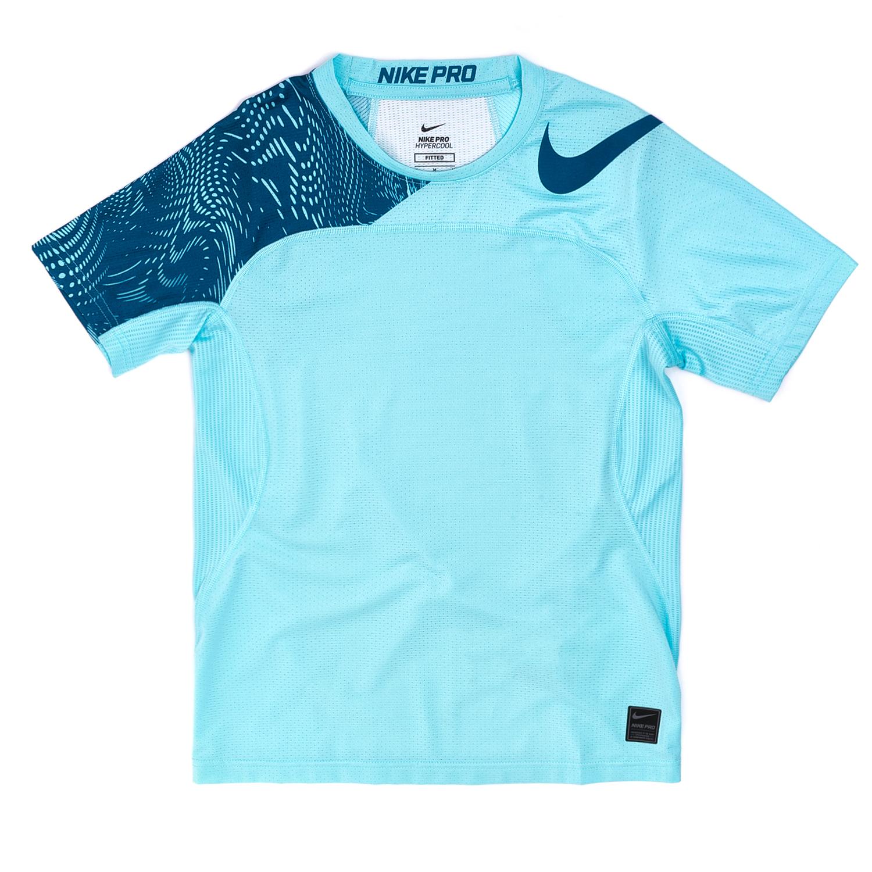 NIKE – Αγορίστικη κοντομάνικη μπλούζα Nike γαλάζια