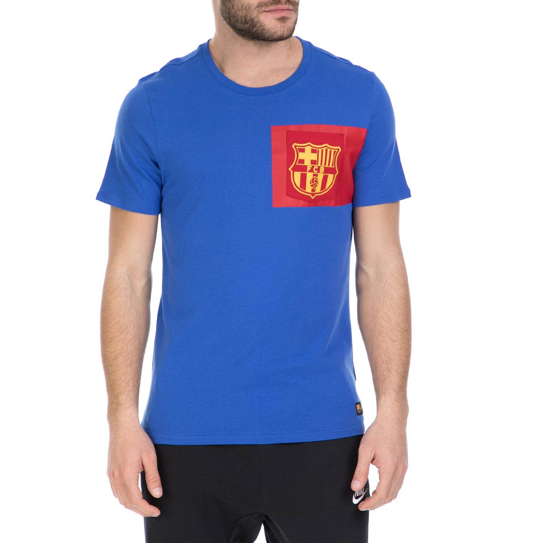 NIKE - Κοντομάνικη μπλούζα Barcelona Nike μπλε ανδρικά ρούχα αθλητικά t shirt
