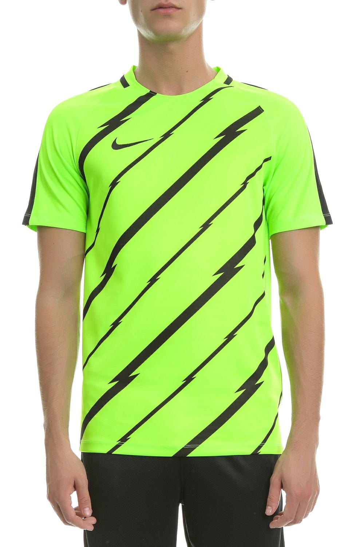 NIKE – Αθλητική κοντομάνικη μπλούζα Nike μαύρη-κίτρινη