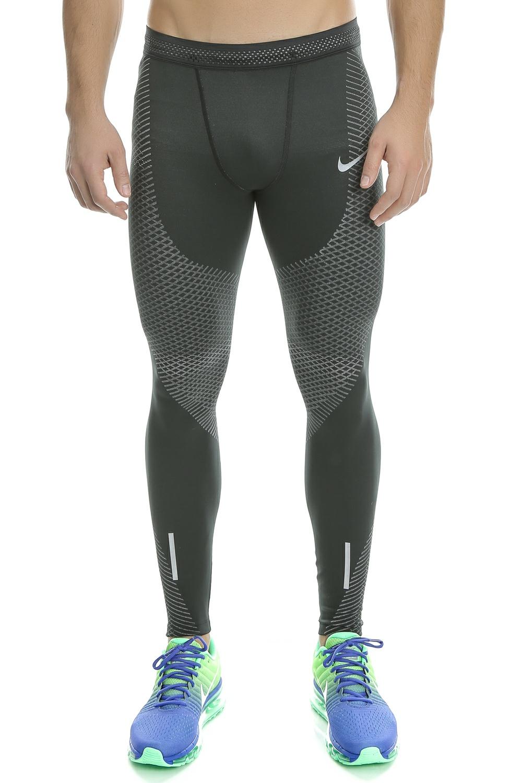 NIKE - Ανδρικό μακρύ κολάν Nike γκρι ανδρικά ρούχα αθλητικά κολάν