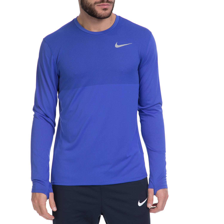 NIKE – Ανδρική αθλητική μπλούζα NΙKΕ ZNL CL RELAY TOP LS μπλε