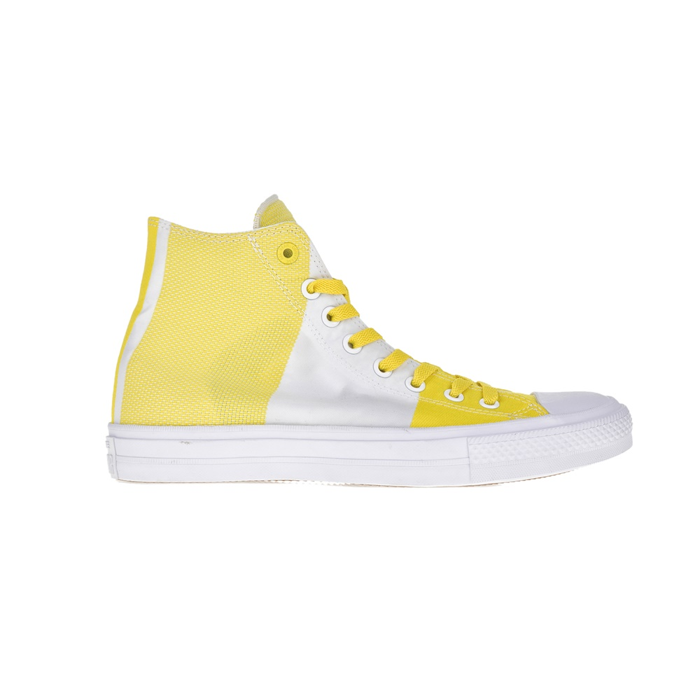 CONVERSE – Υφασμάτινα μποτάκια Chuck Taylor All Star II Hi κίτρινα-λευκά