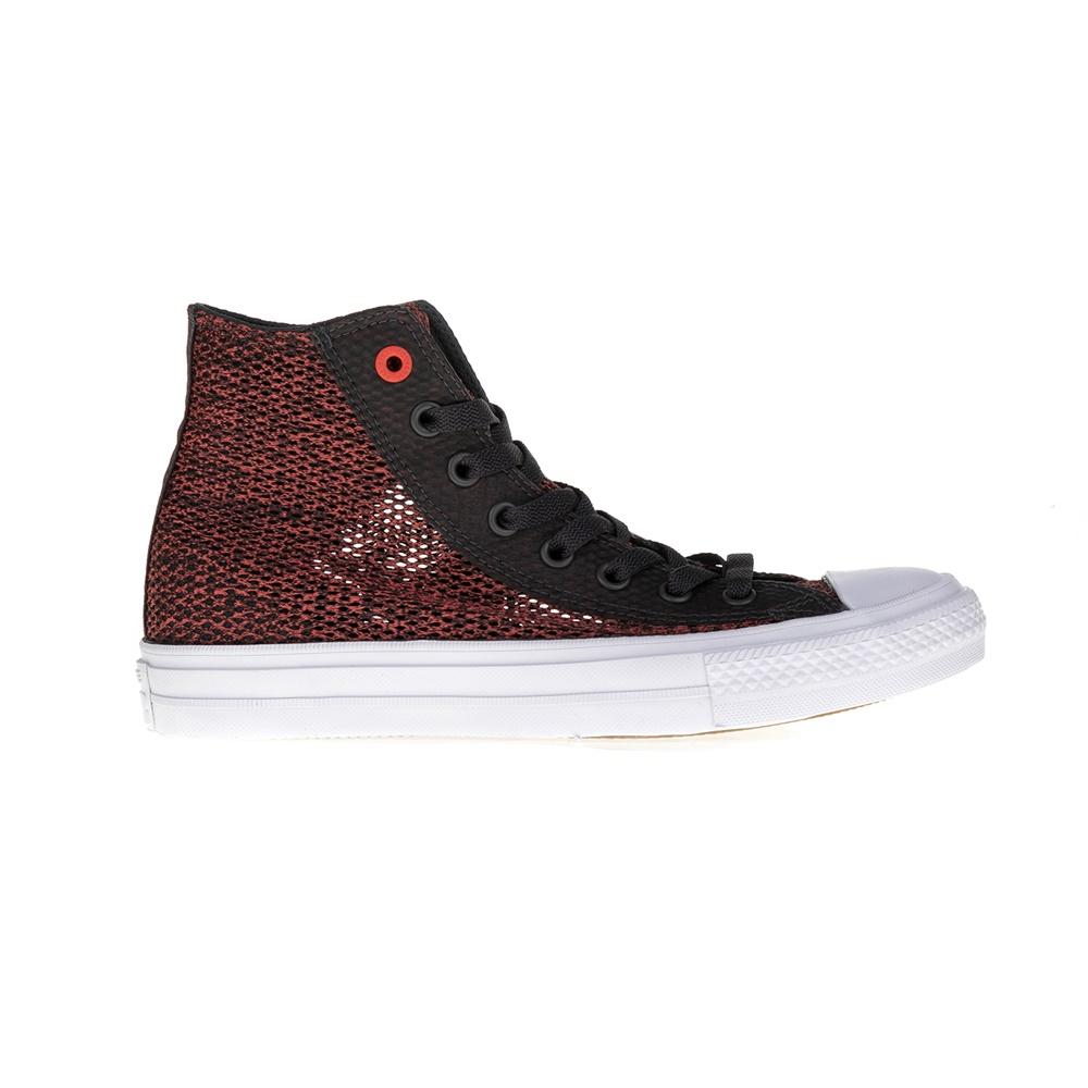 CONVERSE – Unisex μποτάκια Chuck Taylor All Star II Hi κόκκινα-μαύρα