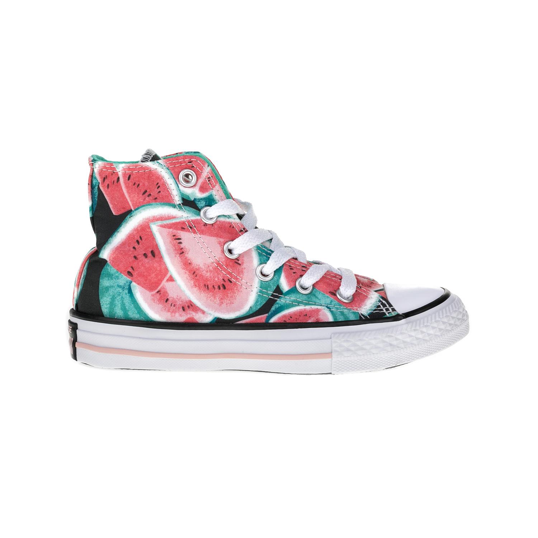 b85bb065395 CONVERSE - Παιδικά παπούτσια Chuck Taylor All Star Hi κόκκινα-πράσινα