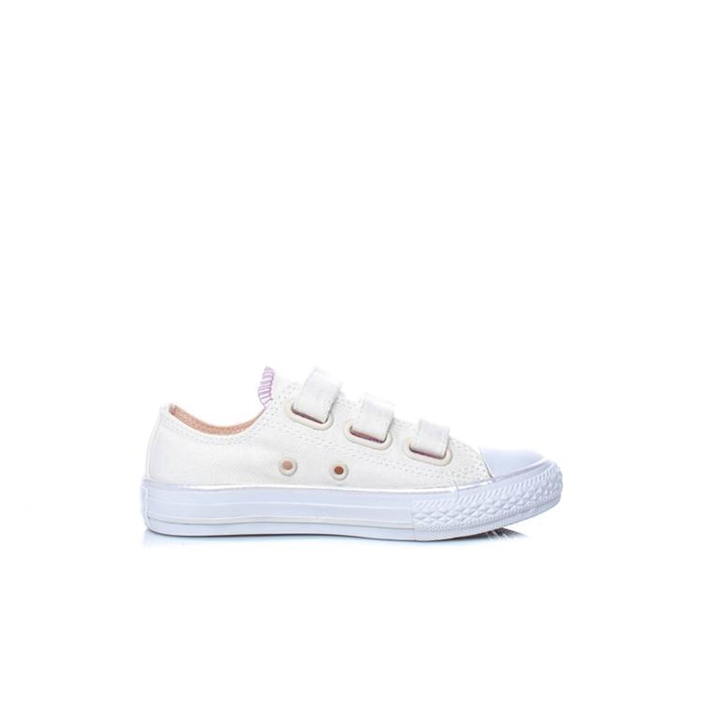 CONVERSE – Παιδικά sneakers CONVERSE Chuck Taylor All Star 3V Ox εκρού