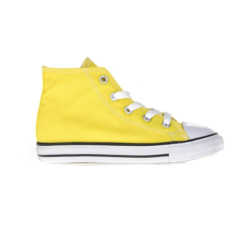 CONVERSE – Βρεφικά μποτάκια Chuck Taylor All Star Hi κίτρινα