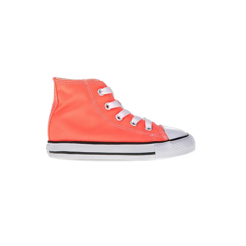 CONVERSE – Βρεφικά μποτάκια Chuck Taylor All Star Hi πορτοκαλί