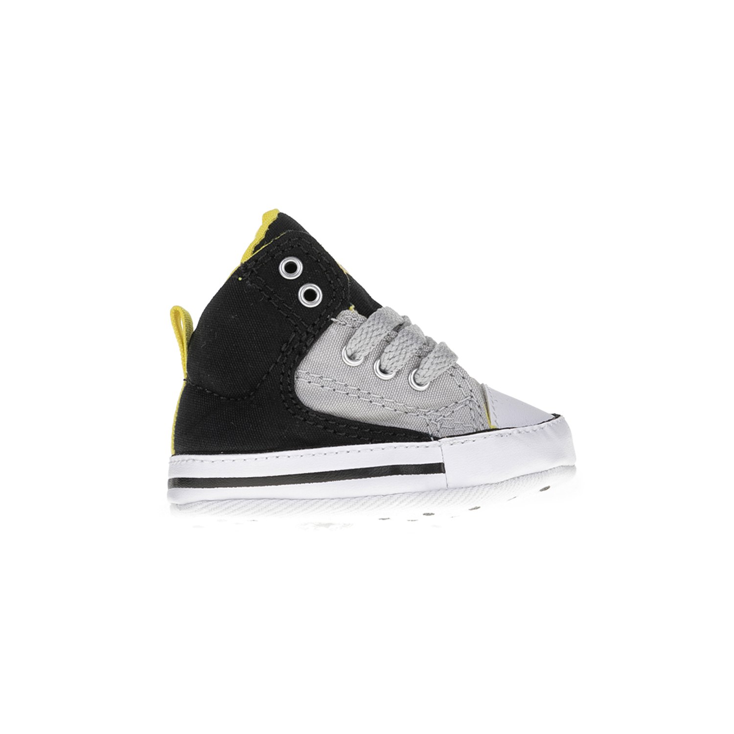 CONVERSE – Βρεφικά μποτάκια Chuck Taylor All Star First St μαύρα-γκρι