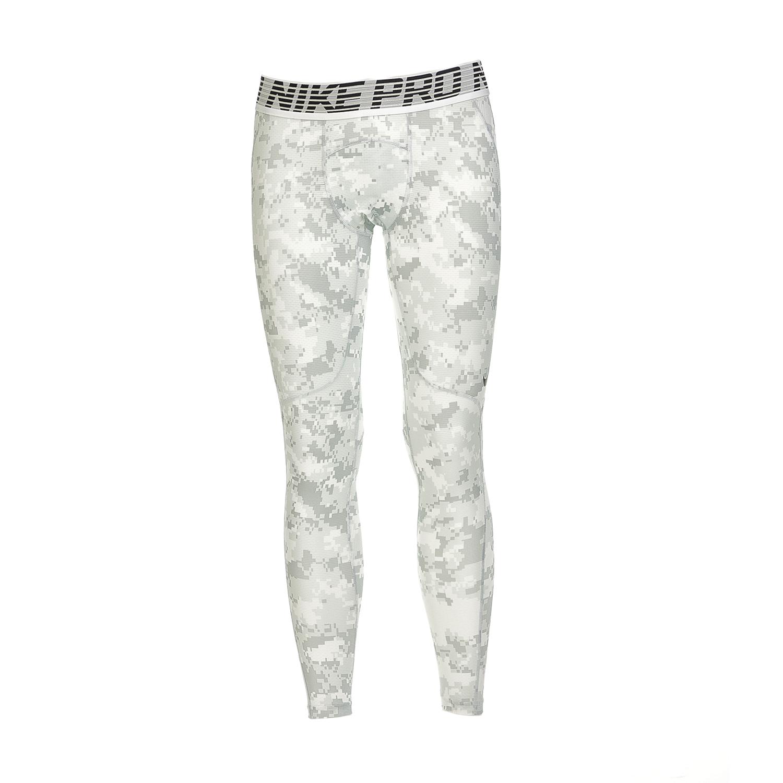 NIKE - Ανδρικό αθλητικό κολάν ΝΙΚΕ NP HPRCL TGHT DIGI CAMO λευκό-γκρι ανδρικά ρούχα αθλητικά κολάν