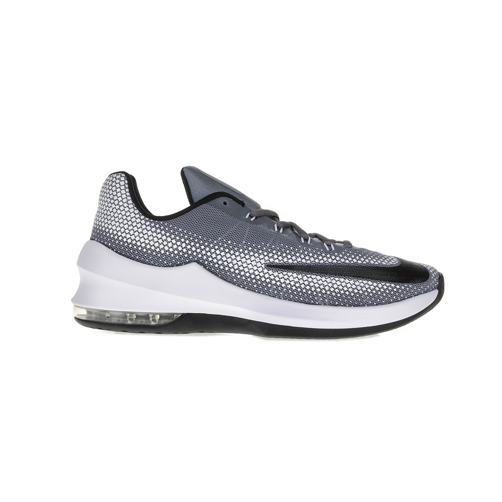 NIKE - Ανδρικά παπούτσια μπάσκετ Nike AIR MAX INFURIATE LOW λευκά - γκρι ανδρικά παπούτσια αθλητικά basketball