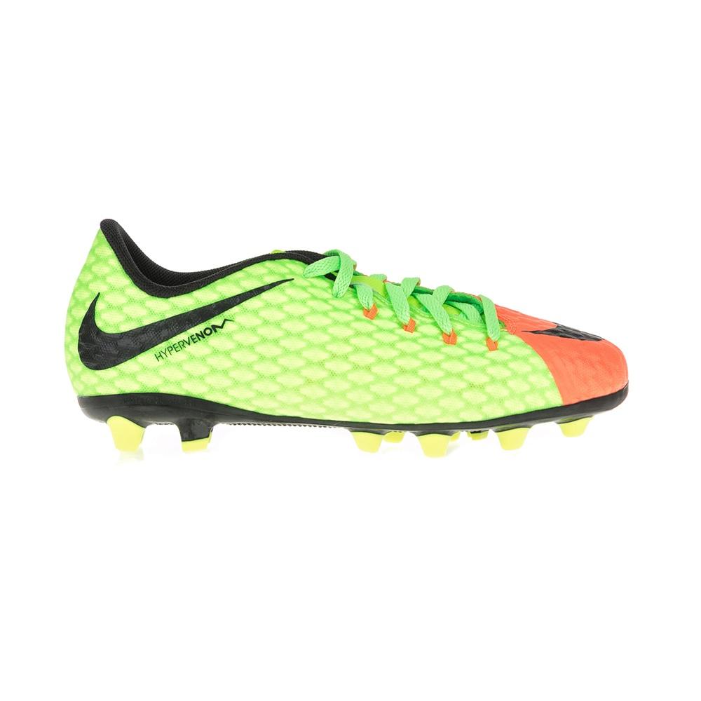 NIKE – Παιδικά παπούτσια ποδοσφαίρου JR HYPERVENOM PHELON 3 AG-PRO κίτρινα – πορτοκαλί