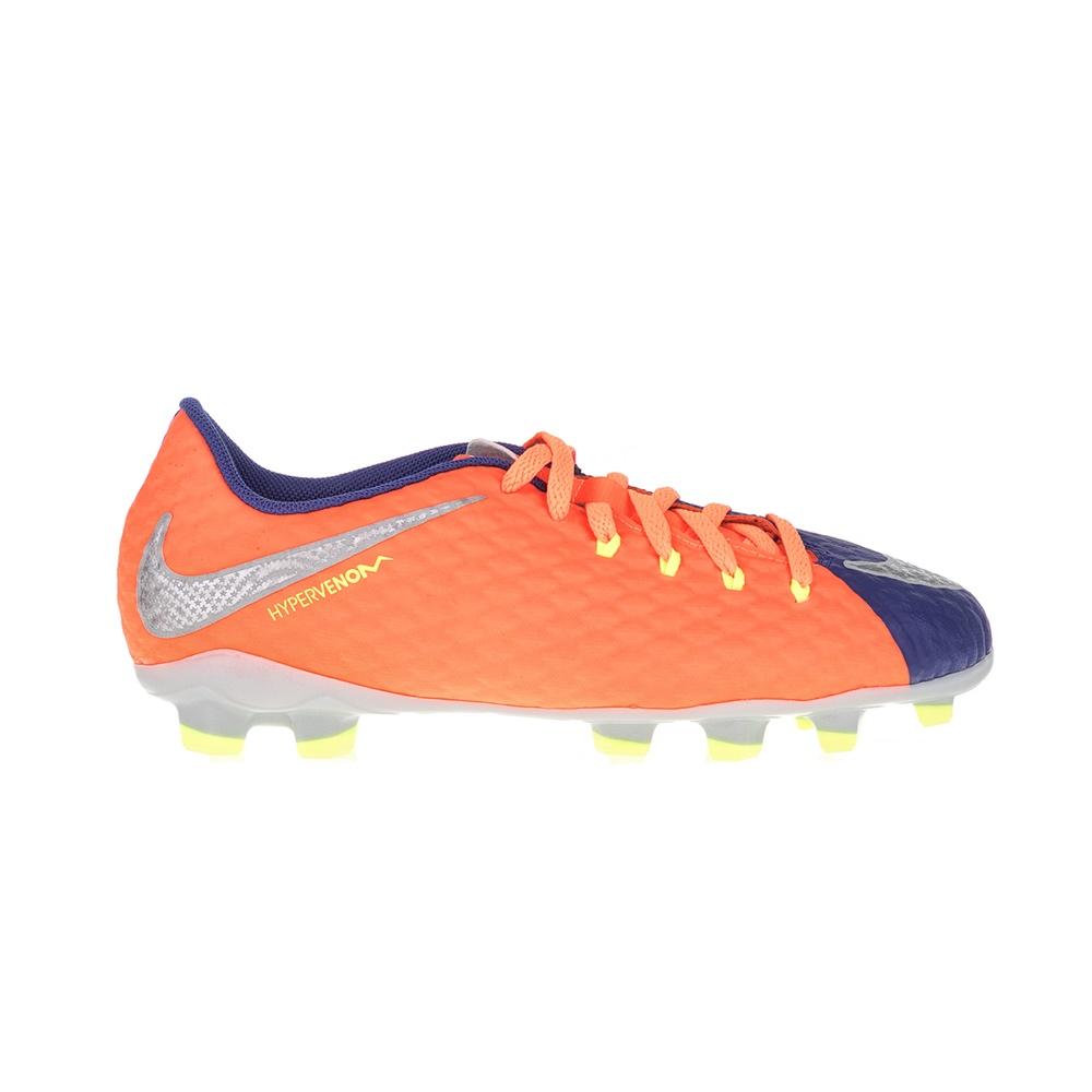 NIKE – Παιδικά παπούτσια ποδοσφαίρου JR HYPERVENOM PHELON III FG μπλε – πορτοκαλί