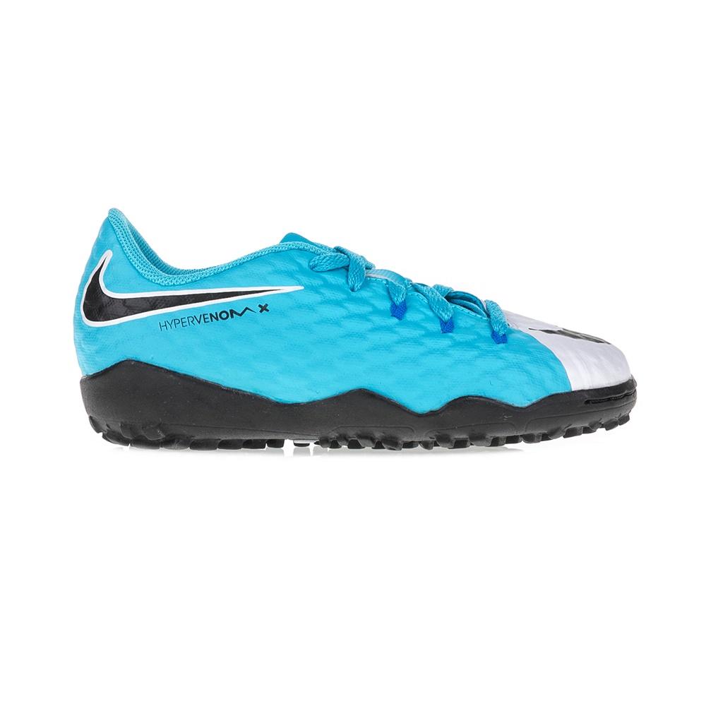 NIKE – Παιδικά παπούτσια ποδοφαίρου JR HYPERVENOMX PHELON III TF μπλε – λευκά
