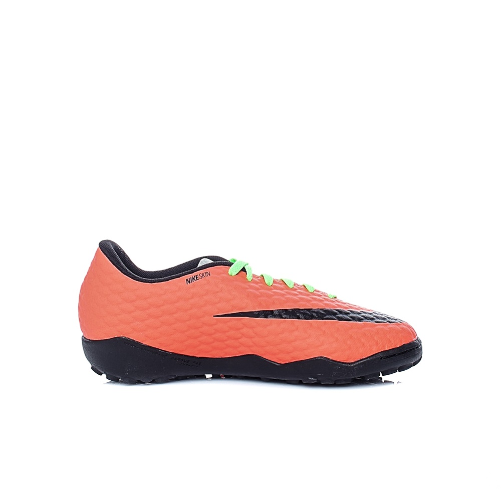 NIKE – Unisex παιδικά παπούτσια ποδοσφάιρου Nike JR HYPERVENOMX PHELON III TF κίτρινα – πορτοκαλί