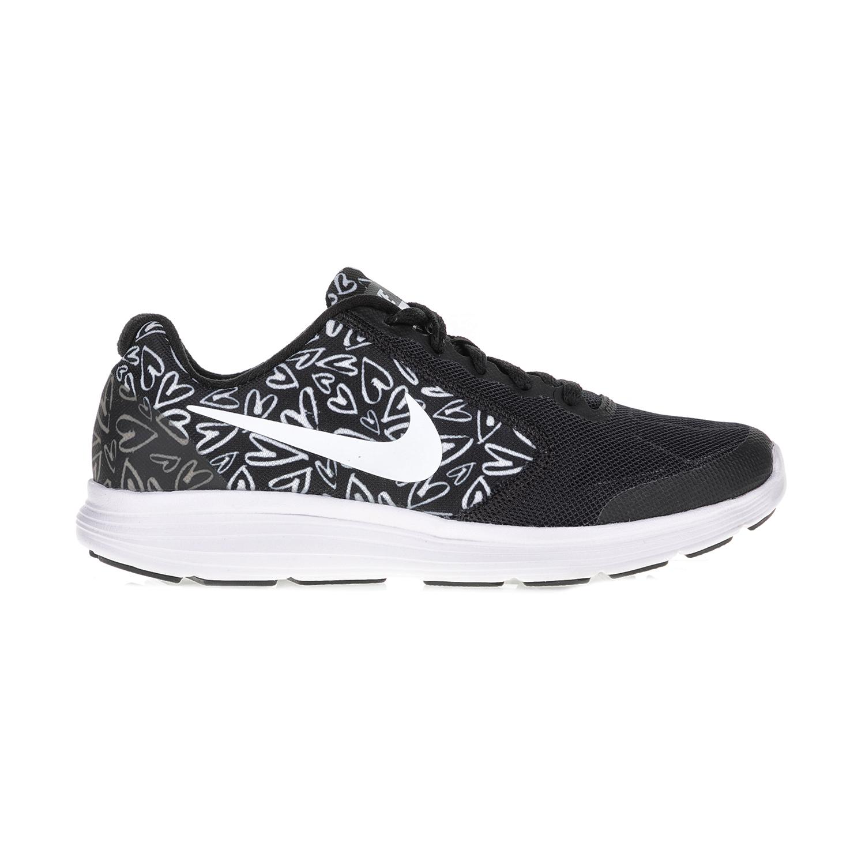 NIKE - Παιδικά αθλητικά παπούτσια NIKE REVOLUTION 3 PRINT (GS) μαύρα