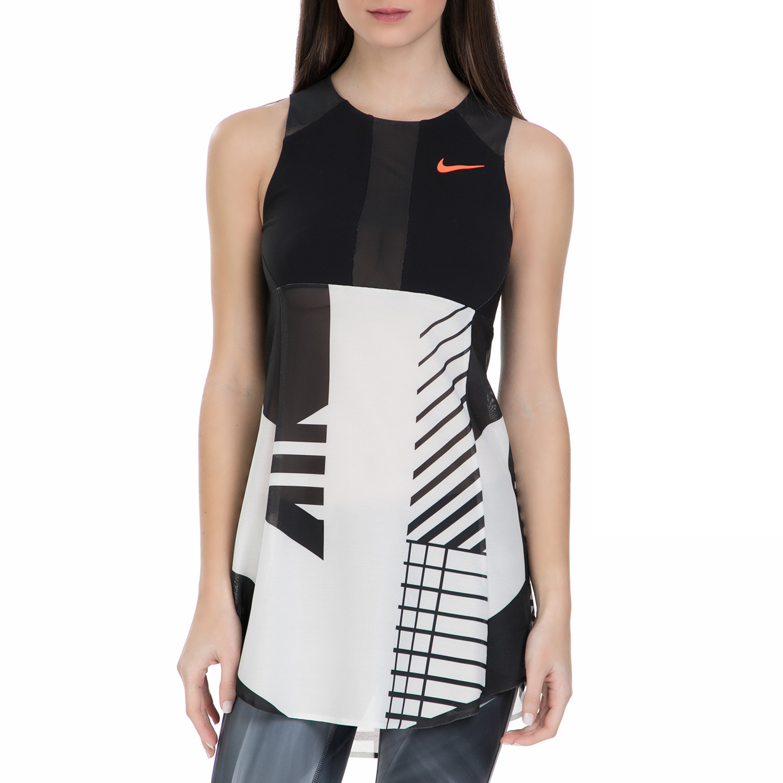 NIKE - Γυναικείο φόρεμα για τένις Nike Court Power Premium μαύρο - λευκό γυναικεία ρούχα φορέματα μίνι