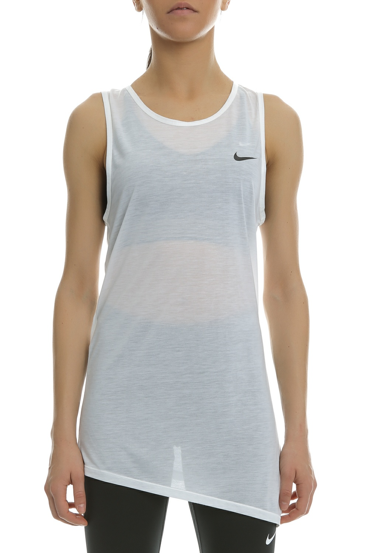 21d3f7f712d NIKE - Γυναικεία αθλητική αμάνικη μπλούζα Nike Breathe λευκή