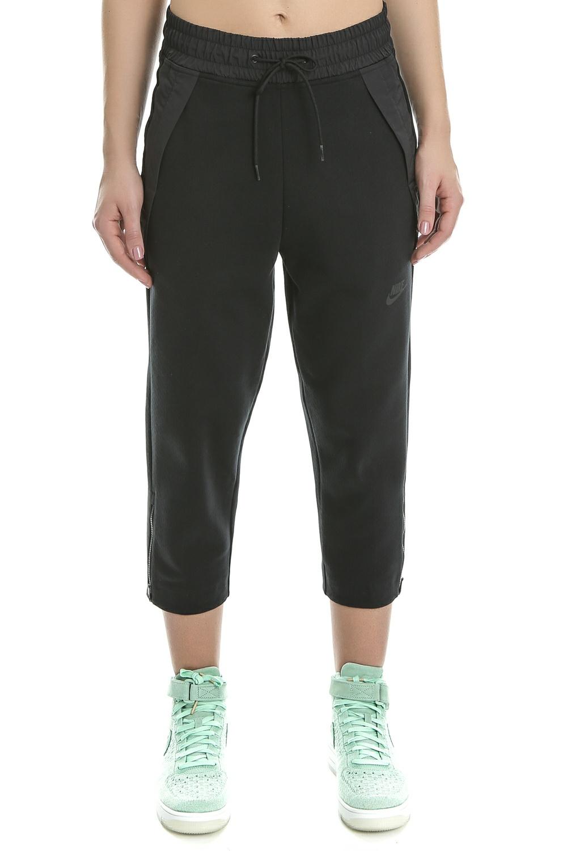NIKE - Γυναικείο crop παντελόνι φόρμας Nike TCH FLC μαύρο γυναικεία ρούχα αθλητικά φόρμες
