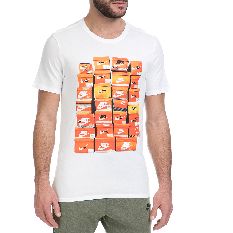 NIKE - Ανδρικό T-shirt ΝΙΚΕ NSW TEE VINTAGE SHOEBOX λευκό ανδρικά ρούχα αθλητικά t shirt
