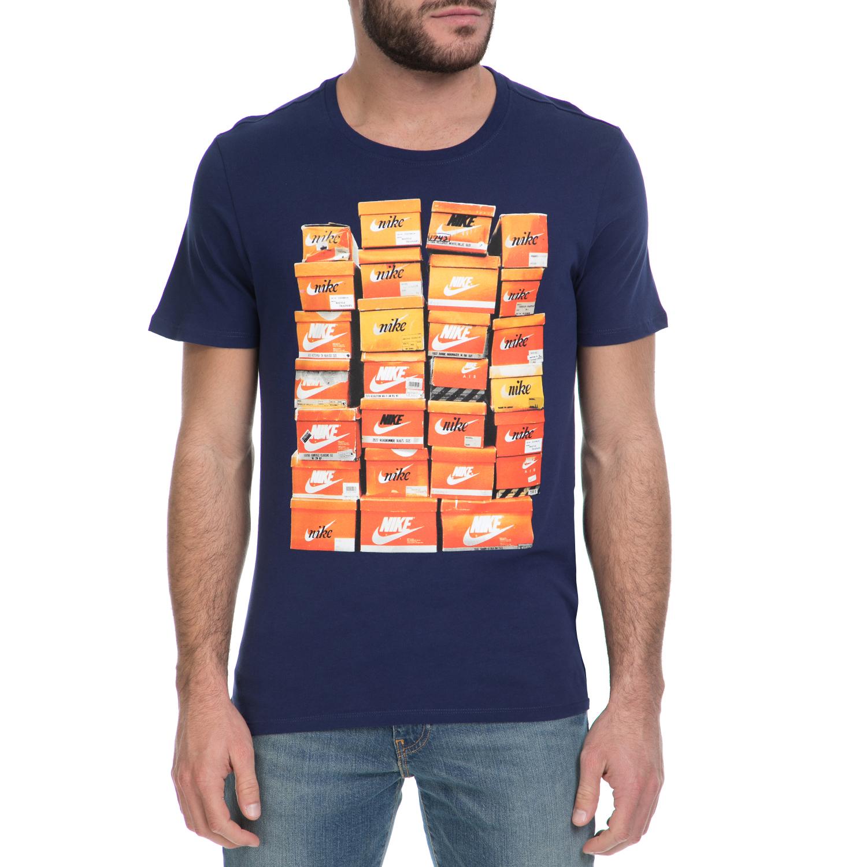 NIKE - Ανδρικό T-shirt ΝΙΚΕ NSW TEE VINTAGE SHOEBOX μπλε ανδρικά ρούχα αθλητικά t shirt