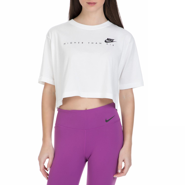 NIKE – Γυναικεία κοντή μπλούζα Nike λευκή
