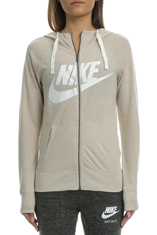 NIKE – Γυναικεία ζακέτα Nike GYM VNTG HOODIE FZ GX μπεζ