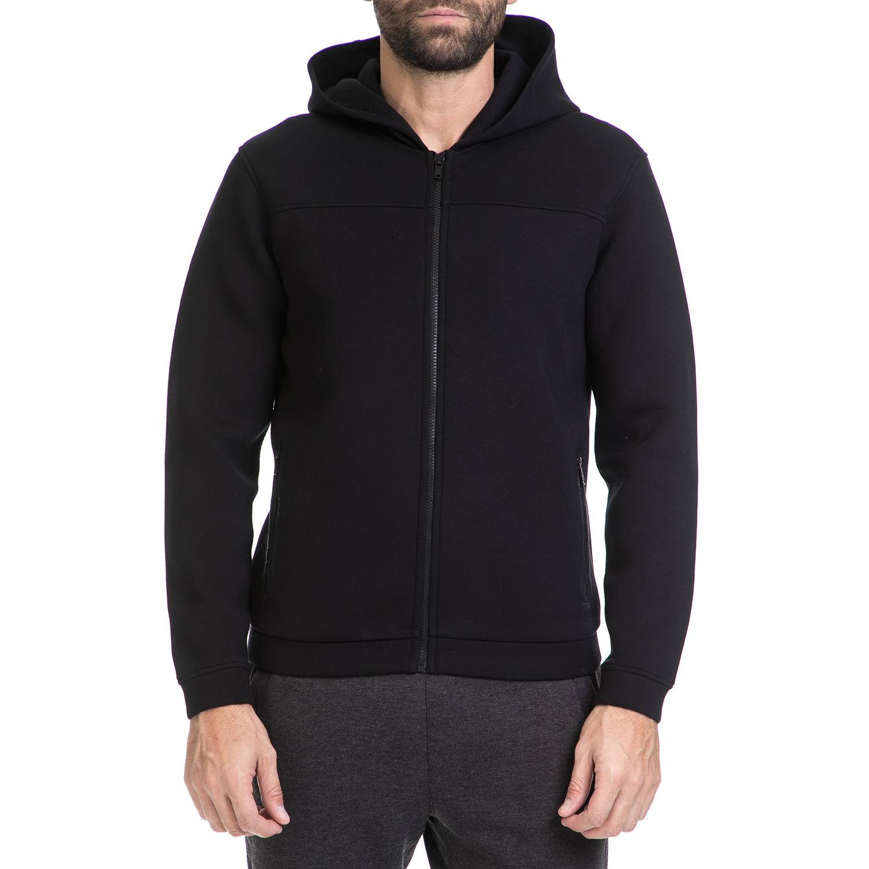 CK - Ανδρική φούτερ ζακέτα KAPPINTO CK μαύρη ανδρικά ρούχα πλεκτά ζακέτες ζακέτες